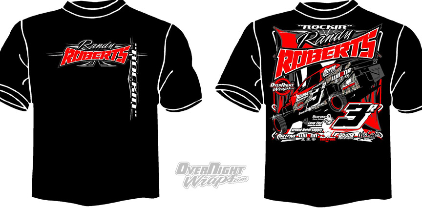 Overnight Wraps Motorsports Division Race Shirts